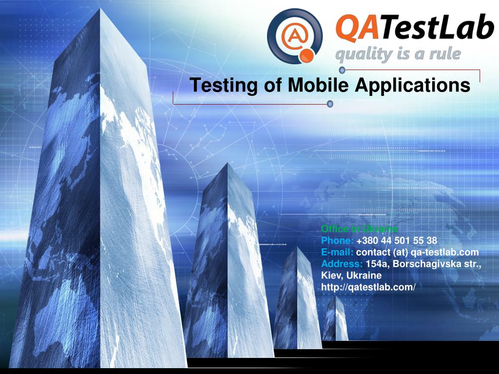 testing of mobile applications l.