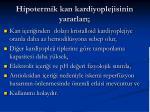 hipotermik kan kardiyoplejisinin yararlar