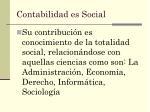 contabilidad es social