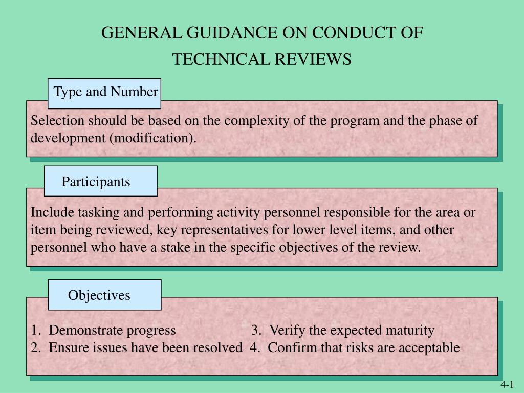 general guidance on conduct of technical reviews l.