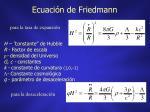 ecuaci n de friedmann