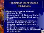 problemas identificados debilidades5