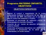 programa materno infantil objetivos9