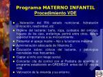 programa materno infantil procedimiento vde