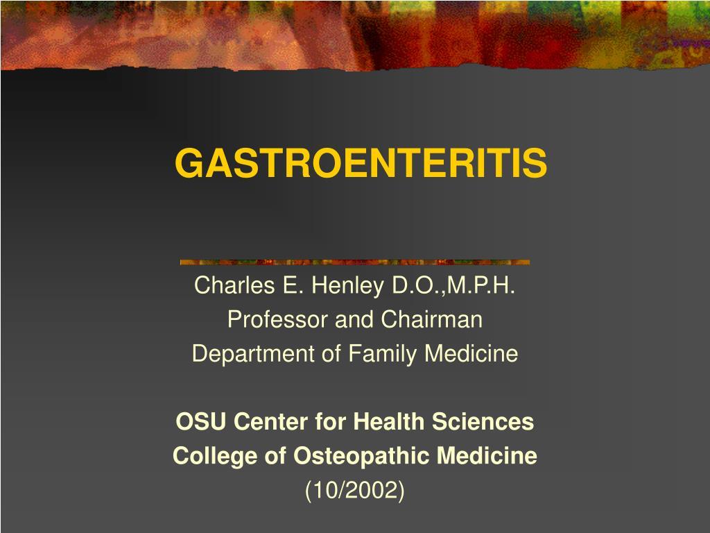 gastroenteritis l.
