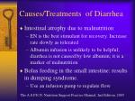 causes treatments of diarrhea