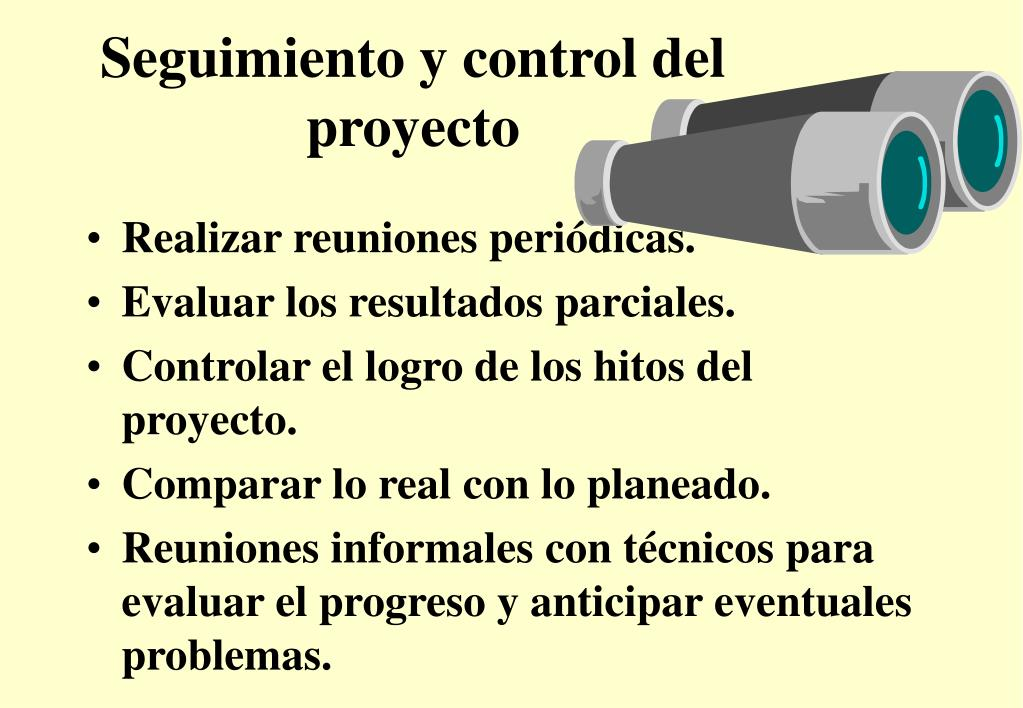 Seguimiento y control del proyecto