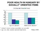 poor health in hungary by socially oriented items
