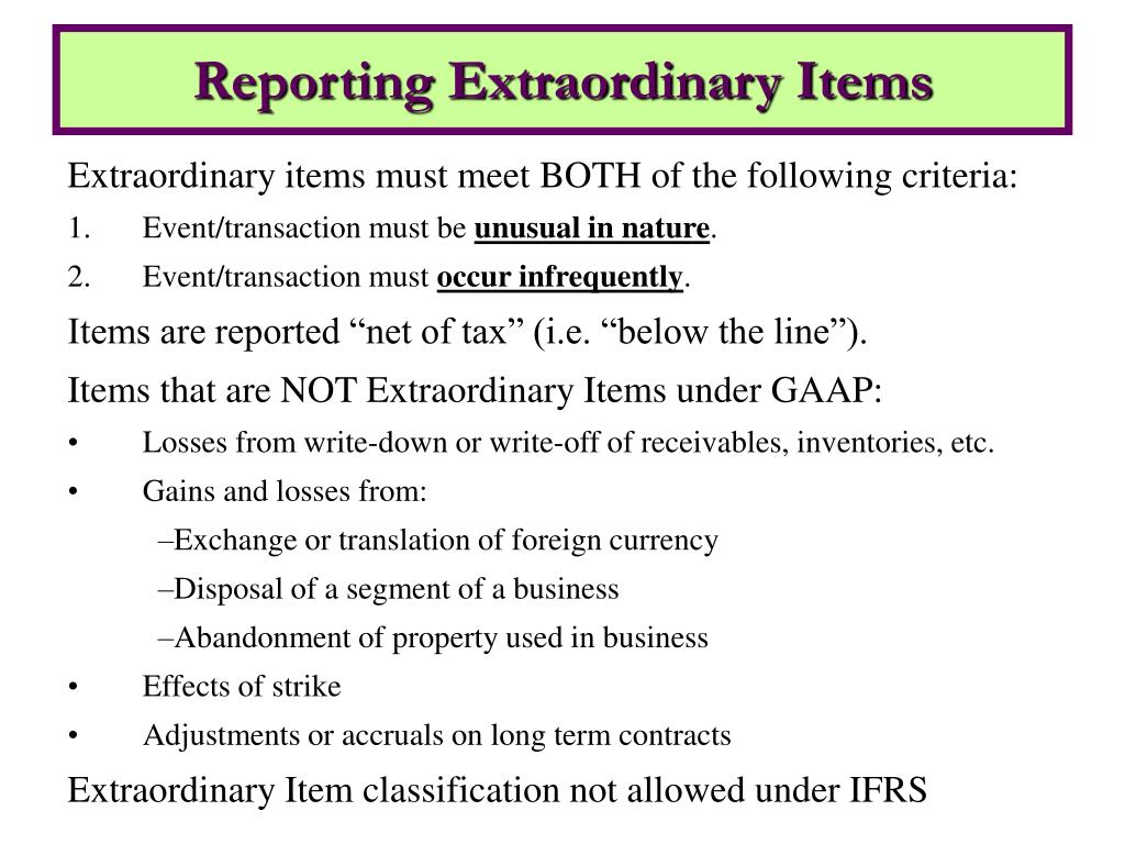 extraordinary items 20072018 what is the difference between extraordinary items and irregular items on the income statement by tiffany c wright.