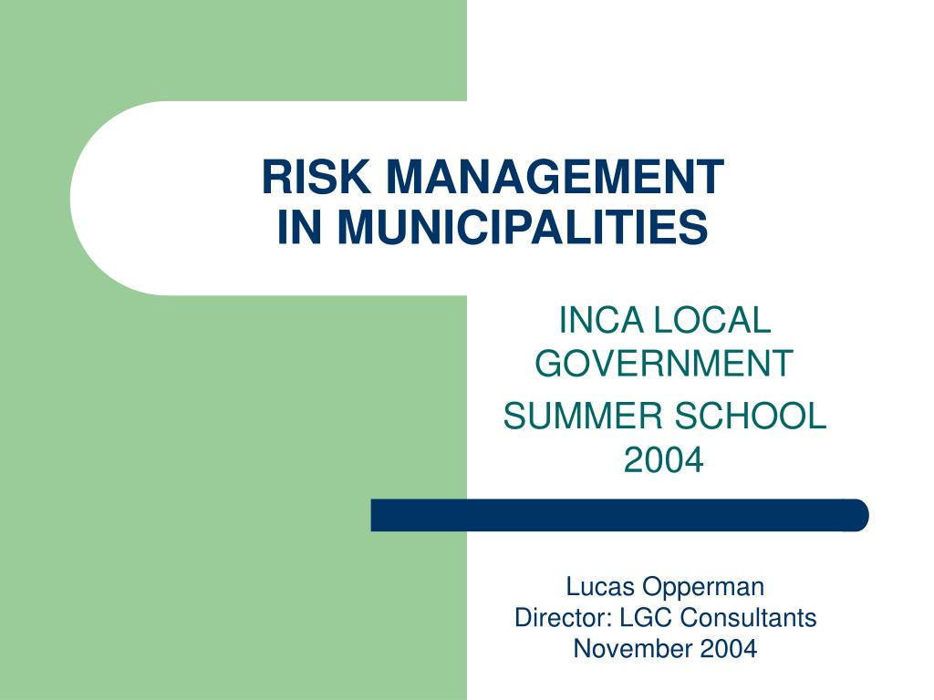 risk management in municipalities l.