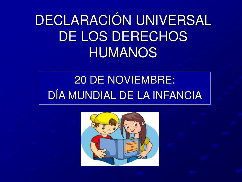 declaraci n universal de los derechos humanos l.