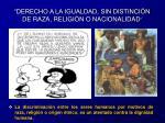 derecho a la igualdad sin distinci n de raza religi n o nacionalidad