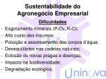 sustentabilidade do agroneg cio empresarial