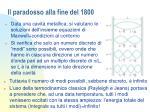il paradosso alla fine del 1800