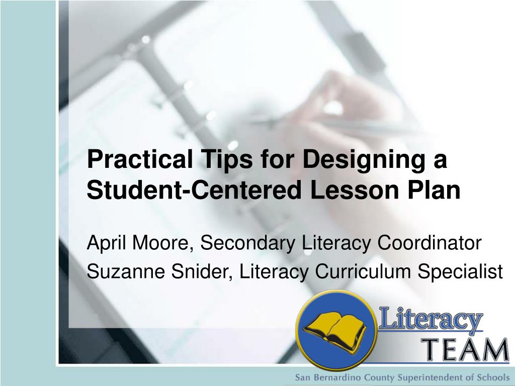 practical tips for designing a student centered lesson plan l.