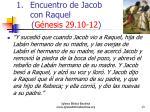 encuentro de jacob con raquel g nesis 29 10 12