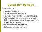 getting new members