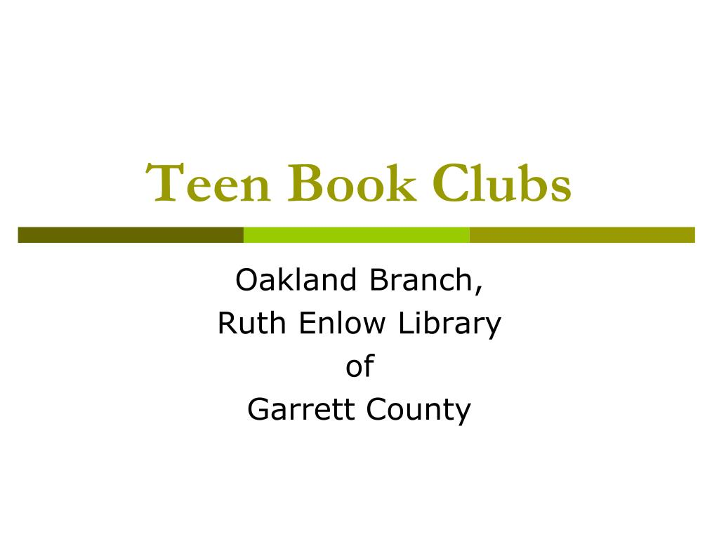 teen book clubs l.