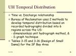 uh temporal distribution
