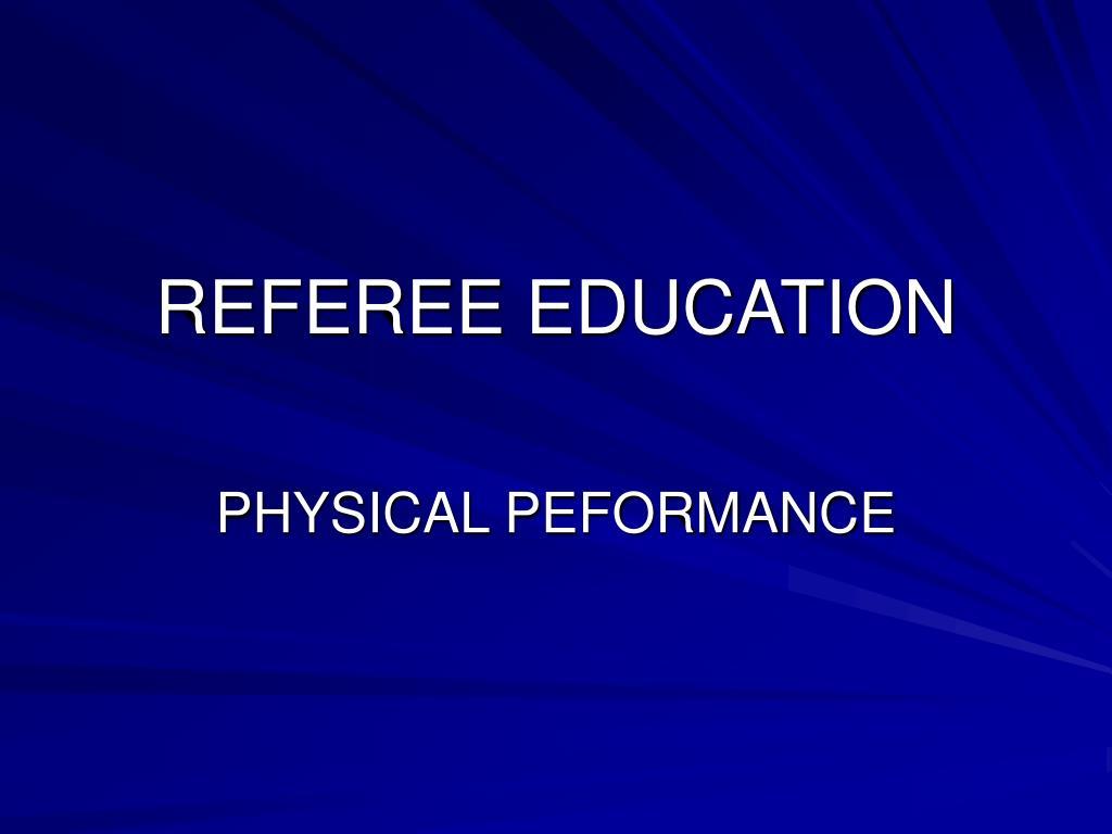 referee education l.