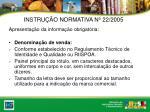 instru o normativa n 22 20055