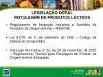 legisla o geral rotulagem de produtos l cteos