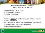 registro de rotulagem produtos l cteos