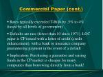 commercial paper cont