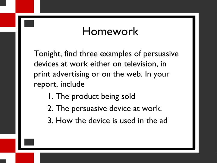 persuasive devices examples