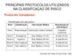 principais protocolos utilizados na classifca ao de risco