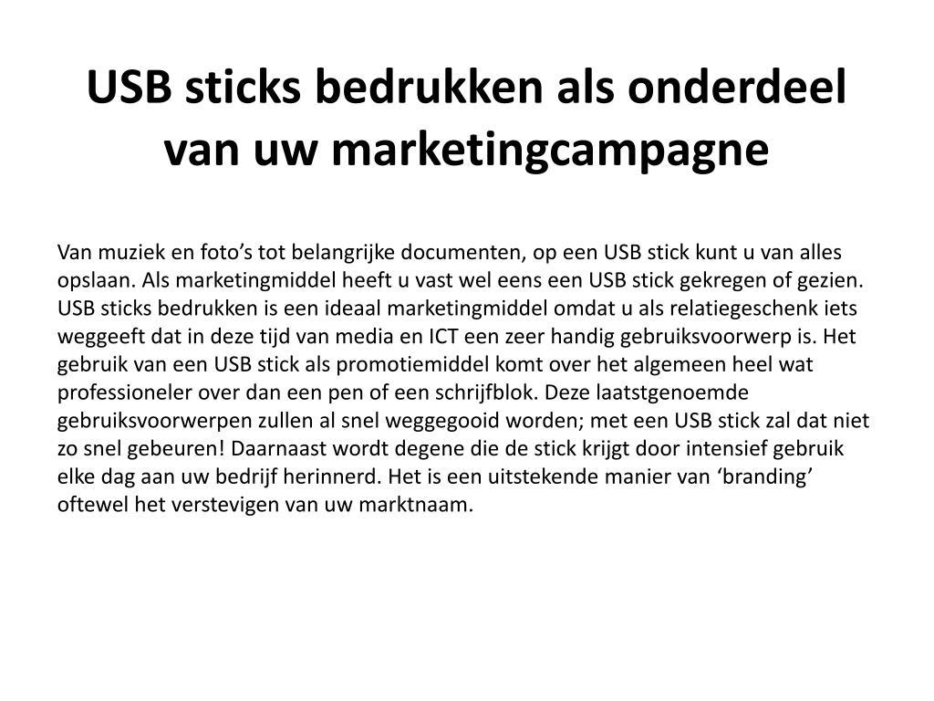 usb sticks bedrukken als onderdeel van uw marketingcampagne l.