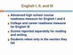 english i ii and iii