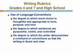 writing rubrics grades 4 and 7 and high school14