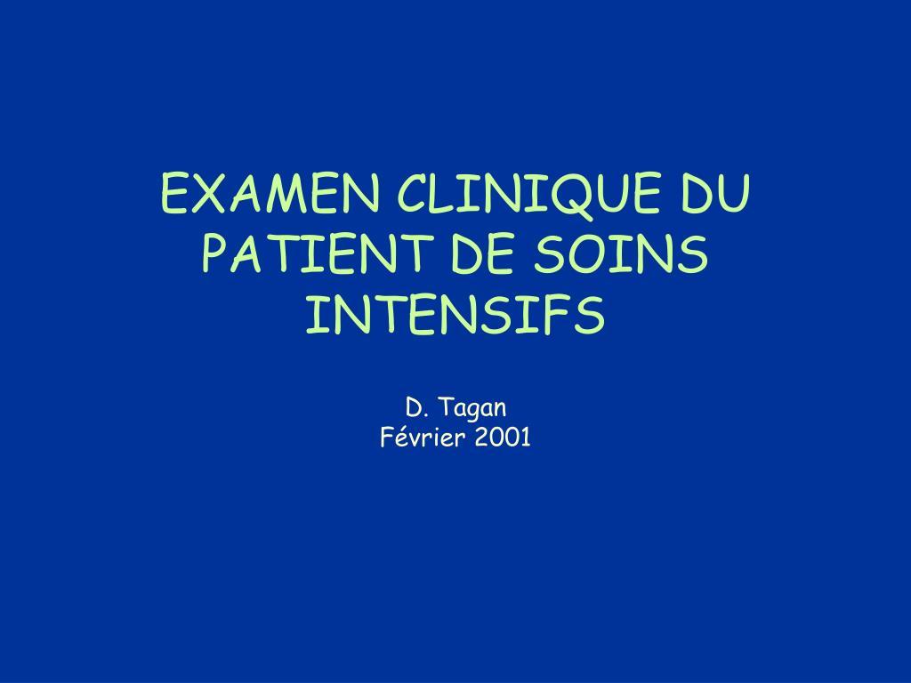 examen clinique du patient de soins intensifs l.