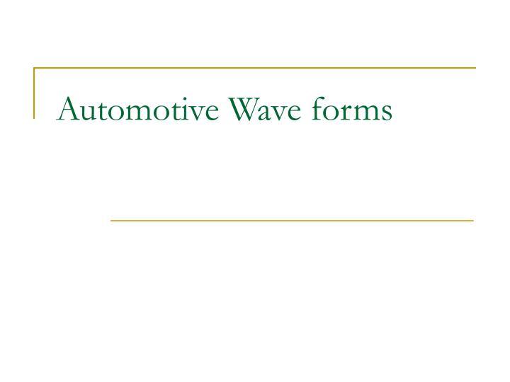 automotive wave forms n.