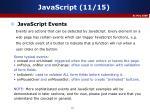 javascript 11 15
