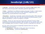 javascript 14b 15