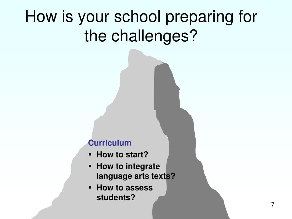 How is your school preparing for the challenges?