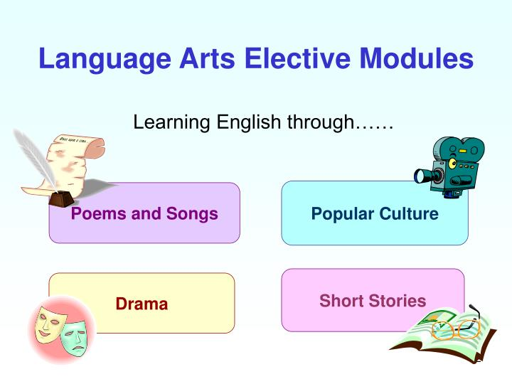 Language arts elective modules