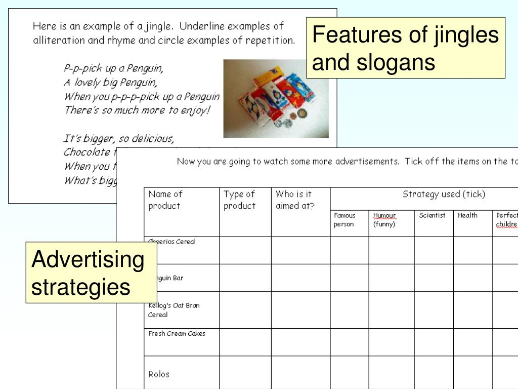 Features of jingles