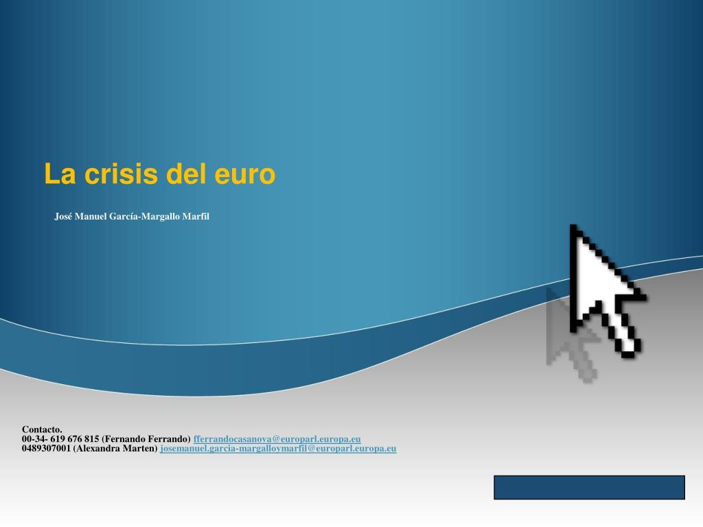 la crisis del euro l.