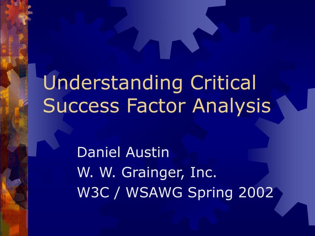 understanding critical success factor analysis l.