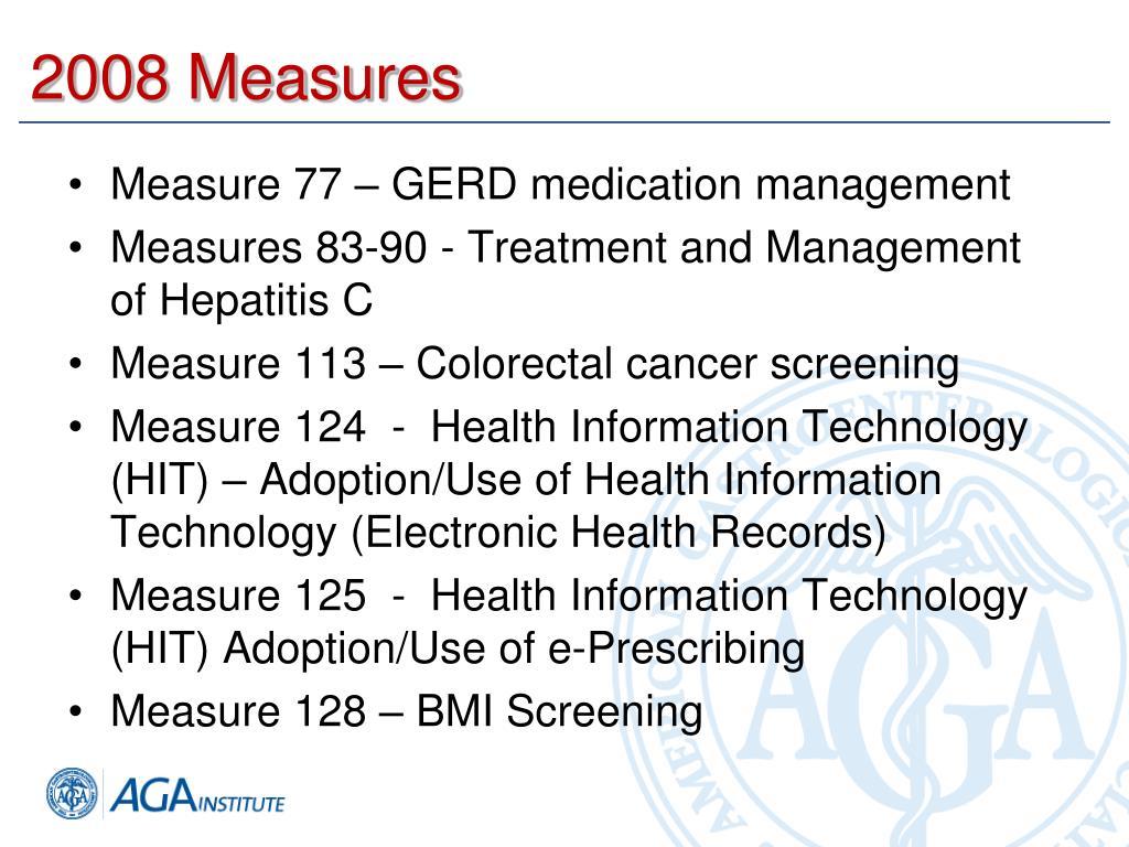 2008 Measures