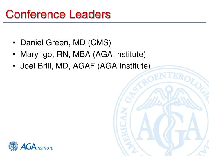 Conference leaders