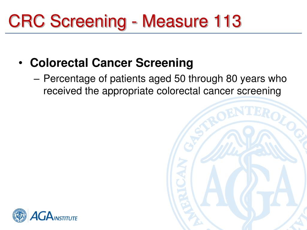 CRC Screening - Measure 113