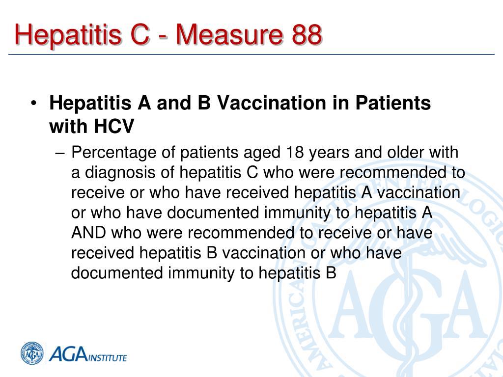 Hepatitis C - Measure 88