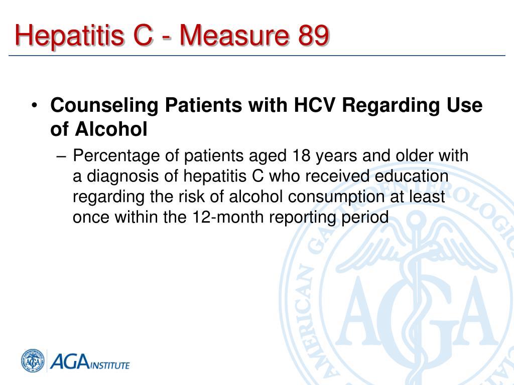 Hepatitis C - Measure 89