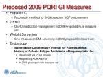 proposed 2009 pqri gi measures