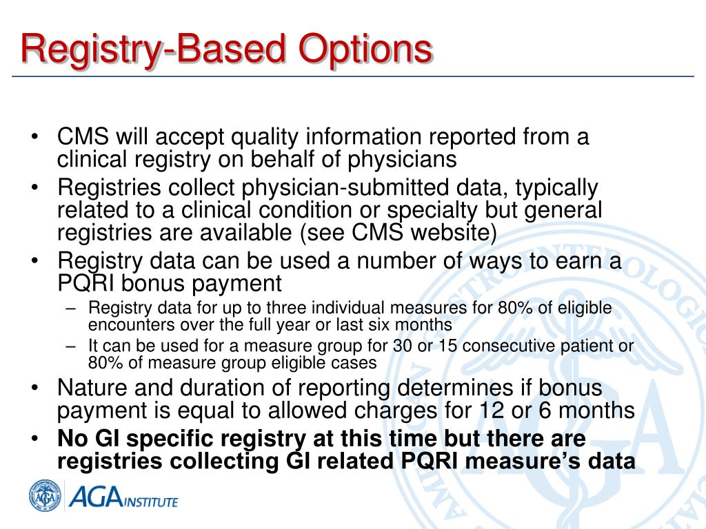 Registry-Based Options