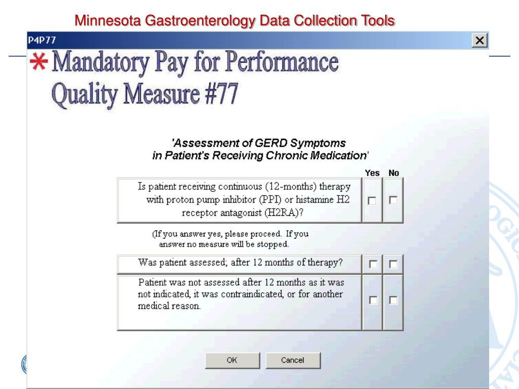 Minnesota Gastroenterology Data Collection Tools